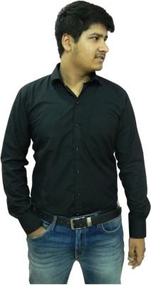 Jeffrey Rozers Men's Solid Formal Black Shirt