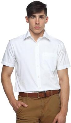 Balista Men,s Solid Formal White Shirt