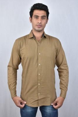 Hometrade India Men's Checkered Casual Brown Shirt