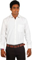 Green Apple Formal Shirts (Men's) - Green Apple Men's Solid Formal White Shirt