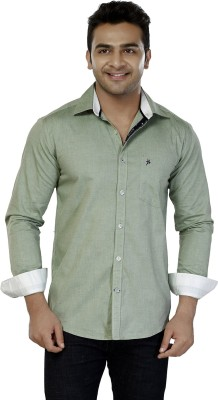 Jazzup Men's Solid Casual Green Shirt