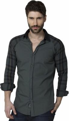 XARO Men's Checkered Casual Green Shirt
