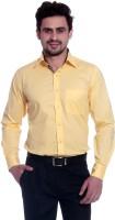 Tag 7 Formal Shirts (Men's) - Tag 7 Men's Solid Formal Yellow Shirt