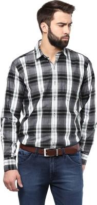 Poze Men's Checkered Casual Green Shirt