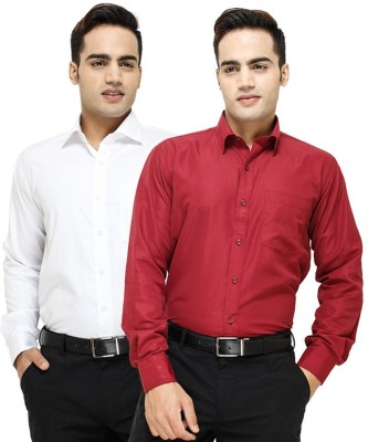 Regalfit Men's Solid Casual Multicolor Shirt