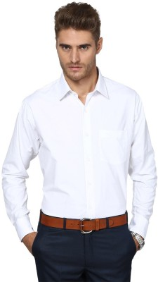 Protext Premium Men's Solid Formal, Casual, Party White Shirt