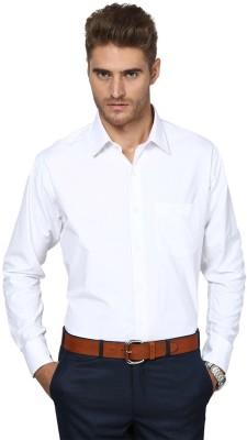 Shaftesbury London Men's Solid Casual White Shirt