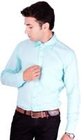 Flutter Formal Shirts (Men's) - Flutter Men's Solid Formal Green Shirt