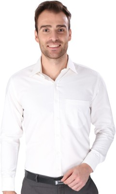 Magson Ace Men's Solid Formal White Shirt