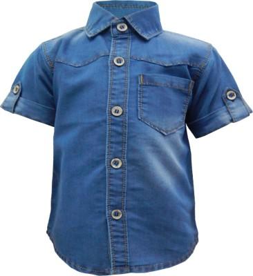 Kooka Kids Baby Boy's Solid Casual Denim Blue Shirt