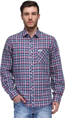 Canary London Men's Checkered Casual Pink Shirt