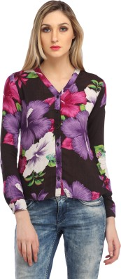 Cation Women's Floral Print Casual Multicolor Shirt