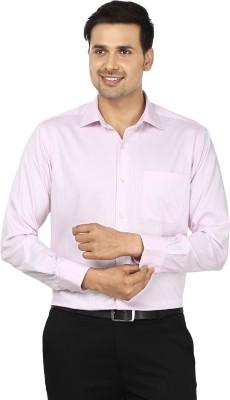 Wills Lifestyle Men's Striped Formal Pink Shirt