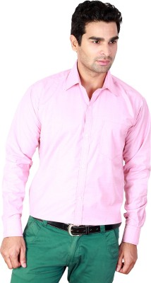 Scottish Men's Solid Formal Pink Shirt
