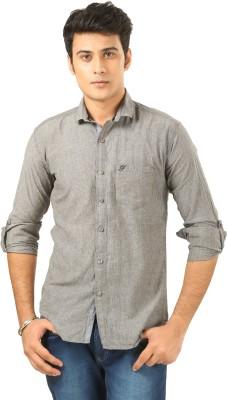 PraadoFashion Men's Solid Casual Grey Shirt