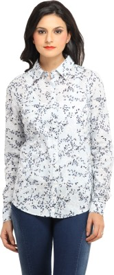 Ladybug Women's Printed Casual Blue Shirt