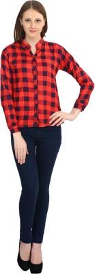 kellan Women's Checkered Casual Red Shirt
