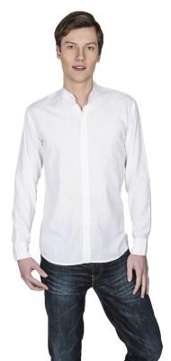 Poker Dreamz Men's Solid Formal White Shirt