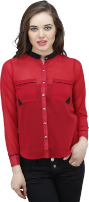 Osumfab Women's Solid Casual Red Shirt