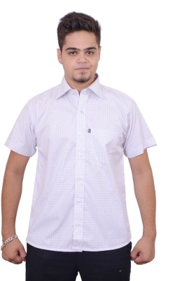 Side Effects Men's Checkered Casual Grey Shirt