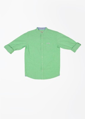 Pepe Jeans Boy's Striped Casual Green Shirt