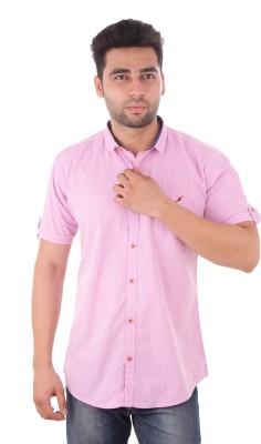 Studio Nexx Men's Solid Casual Pink Shirt