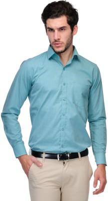 Nexq Men's Solid Formal Light Green Shirt