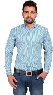 Riwas Collection Men,s Checkered Formal Green, Blue Shirt