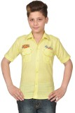 Enntic Boys Solid Casual Yellow Shirt