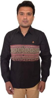 PP Shirts Men's Printed Party Black Shirt