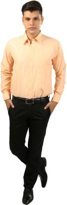 koutons outlaw Men's Solid Formal Orange Shirt