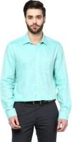 Turtle Formal Shirts (Men's) - Turtle Men's Solid Formal Green Shirt