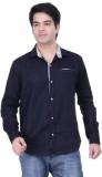 HOH Men's Solid Casual Black Shirt