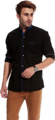 Goodkarma Men's Solid Casual Black, Blue Shirt