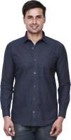 El Figo Formal Shirts (Men's) - EL FIGO Men's Solid Formal Blue Shirt