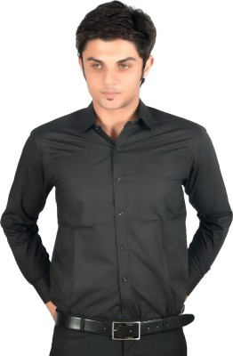 Proactive Men's Solid Formal Black Shirt