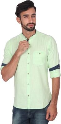 Ashford Brown Men's Solid Casual Light Green Shirt
