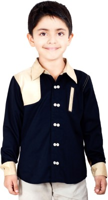 Naughty Ninos Boy's Solid Casual Black Shirt