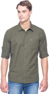 Shield & Sword Men's Solid Casual Linen Grey Shirt