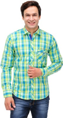 Finder Zone Men's Checkered Casual Multicolor Shirt