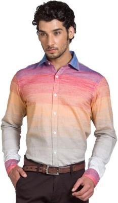 Klub Fox Men's Striped Casual Multicolor Shirt