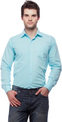 Fedrigo Men's Solid Casual Light Blue Shirt