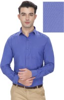 Enf Formal Shirts (Men's) - EnF Men's Solid Formal Blue Shirt