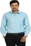 TT Men's Solid Formal Green Shirt