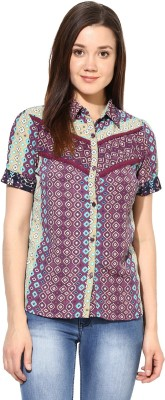 SS Women's Printed Casual Multicolor Shirt