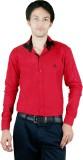 Zrestha Men's Solid Formal Maroon Shirt