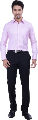 Validus Men's Woven Formal Pink Shirt