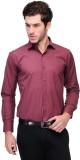 Qpark Men's Solid Formal Maroon Shirt