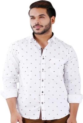 La MODE Men's Solid Casual White Shirt