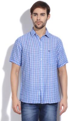 Arrow Sports Men's Checkered Casual Blue Shirt